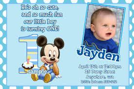 exle of 1st birthday invitation