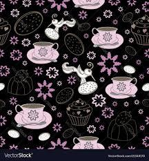 <b>Flowers cups</b> and <b>bird garden</b> tea party Royalty Free Vector