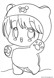 Small Picture Kawaii Chibi Girl Coloring Pages Printable