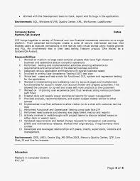 Qa Analyst Resume Sample Resume For Study