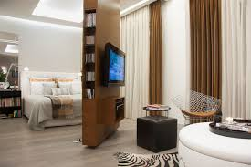 Example of a trendy master bedroom design in Other with white walls