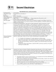 Cover Letter Example Electrician Resume Electrician Resume Example
