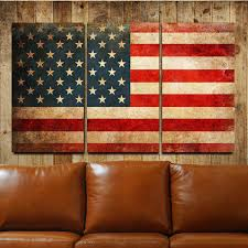 clever design american flag wall art interior designing rustic canvas gallery wrapped triptych decor wood metal