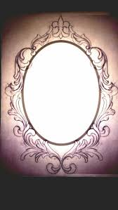 antique hand mirror tattoo. Ornate Oval Frame Drawing | Another Rough Draw Up Of My Tattoo . Antique Hand Mirror