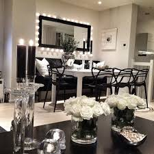 Now this is gorgeous interior design. I love the black and white theme and  I've never seen a dining room with a couch. I can't picture myself putting  a ...