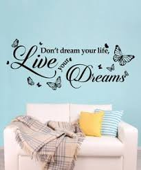 silver dot clock with dream quote wall sticker set wayfair uk ideas for the house pinterest dreaming quotes quote wall and wall sticker on dream wall art uk with silver dot clock with dream quote wall sticker set wayfair uk