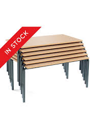 In Stock Rectangle Stacking Tables Classroom Furniture