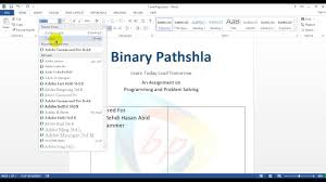 how to make a cover page front page for assignment in ms word in how to make a cover page front page for assignment in ms word in bangla part 01