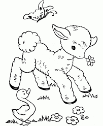 Animal Babies Coloring Pages Baby Farm Animals Coloring Pages Free