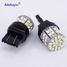 W21 5w Brake Light Us 6 63 20 Off 6 X T20 7443 W21 5w Brake Light Bulbs 3020 50 Led 1206 Smd 7440 Dual Intensity Tower Tail Stop Signal Reversing Lamp White In Signal