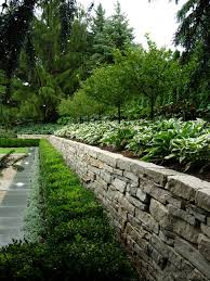 garden walls dry stacked stone walls
