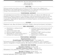 Examples Of Nursing Resume – Kappalab