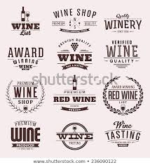 Label Design Free Typographic Wine Label Design Set Vintage Stock Vector Royalty Free