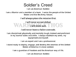 warrior ethos ier s creed i will always place the mission  warrior ethos ier s creed i will always place the mission first