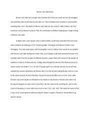 compartive essay comparison essay while j d salingers the  4 pages romeo and juliet essay