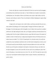 compartive essay comparison essay while j d salingers the 4 pages romeo and juliet essay