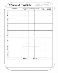 Work Out Charts Template Hostingpremium Co