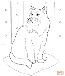 Small Picture Siberian Cat coloring page Free Printable Coloring Pages
