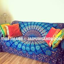 Bohemian Sofa Couch Cover Boho Tapestry Wall Hanging-Jaipur Handloom