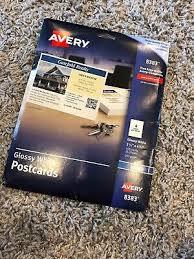Avery 8383 200 Avery 3381 Inkjet Postcards Index Cards 4 Per Sheet 5 5