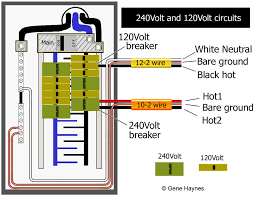 basic 240 & 120 volt water heater circuits Electric Breaker Panel Box Wiring larger image, ordinary main panel for home has 120 volt and 240 volt circuits this is called single phase electric power phasing is determined by the Wiring 30 Amp Breaker Box