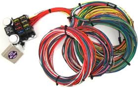kwik wire 8 circuit street rod wiring harness hotrod hotline this harness will adapt to g m ford and mopar as a cut to fit harness this harness is based on g m color codes each group of wires are long enough to