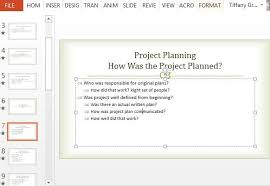 Format For Presentation Of Project Project Post Mortem Powerpoint Template