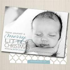 Birth Announcement Christmas Card 12 Mybabydoo