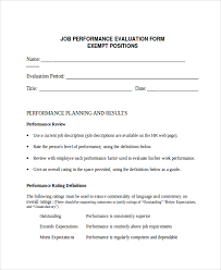 Job Performance Evaluation Form Templates 30 Images Of Job Performance Evaluation Form Template Leseriail Com