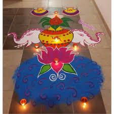 Diwali Kalash Designs My Creative Diwali Special Rangoli Water Lotus Kalash