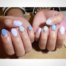 Angel Nail 藝術美甲 浪漫夏日粉藍凝膠造型 創造手指的小清新來渡過