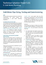 Cold Water Pipe Sizing Testing And Commissioning