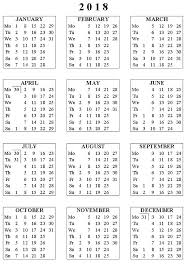 Blank Calendar Pages 2018 To Print Coloring Sheets