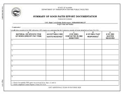 fastbid gst rink creek bridge replacement southcoast region page 43 summary of good faith effort documentation
