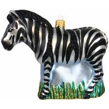 Weihnachtskugel Zebra