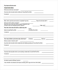 Assessment Example Sample Psychosocial Assessment Form - 8+ Free Documents in Doc, PDF