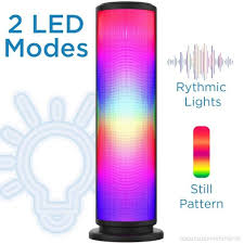 aduro led bluetooth speaker with pulsating lights wireless color changing portable outdoor party tower speaker universal b07d83c8ln