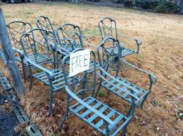 wrought iron patio chairs $0