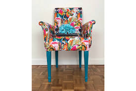 reserved parrot print armchair bright coloured armchair occasional chair upholstered chair armchair