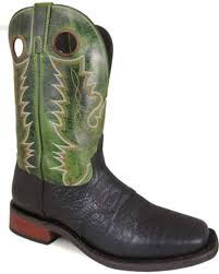 zoomed image smoky mountain men s timber 11 black green le leather cowboy boots square toe