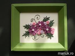 Paper Quilling Flower Frames My Present For March 1st Quilled Simple Flower Arrangement