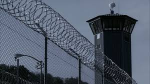 barbed wire fence prison. Barbed-wire-fence-outside-guard-tower-at-sacramento- Barbed Wire Fence Prison