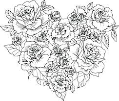 A Rose Coloring Pages Skull And Roses Coloring Pages Rose Flower