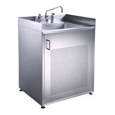 Metal Sink Cabinet Furniture Utility Sink Cabinet For Laundry With 2 Metal Storage