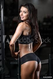 Fotografie Obraz Pretty Fitness Sexy Model Luxury Ass Fat Burning