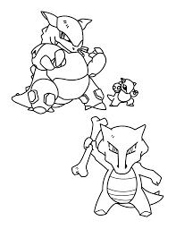 Coloring Pictures Of Pokemon Alolan Marowak Coloriages Pokémon