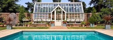 greenhouse near pool