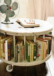 yea or nay spool bookcase coffee table