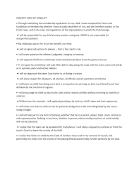 Rwfc Code Of Conduct Policies