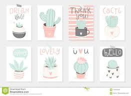 Set Of 8 Cute Ready To Use Gift Romantic Postcards With Succulents